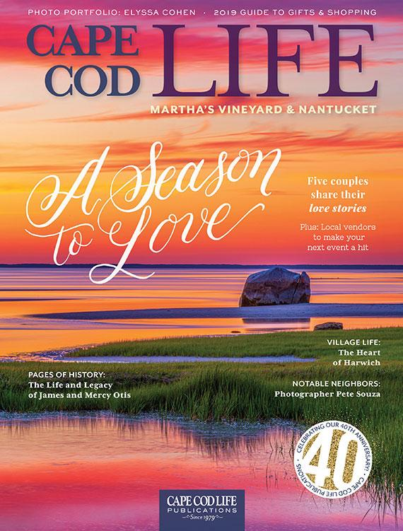 Cape Cod Life Magazine cover feature and interior spread