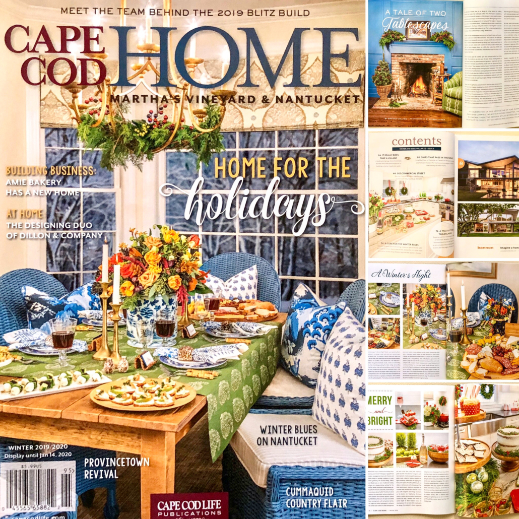 Cape Cod Home Magazine: Holiday Decorating with Summerland's Michelle Woeller